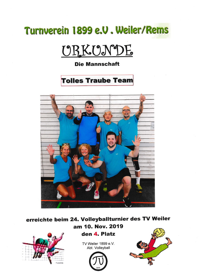 Volleyballturnier TV Weiler 20191110